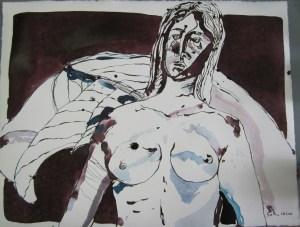Rockefeller - Zeichnung von Susanne Haun - 50 x 70 cm - Tusche auf Bütten