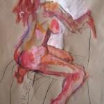 A. gefällt ihrem Mann - Zeichnung von Susanne Haun - 60 x 80 cm - Acryl und Ölkreide auf Packpapier