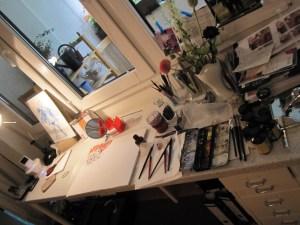 Mein Arbeitsplatz heute Nachmittag - Foto von Susanne Haun