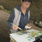 Maike beim Malen - Foto von Susanne Haun