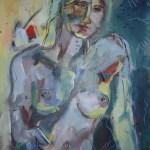 Rockefeller - Gemälde von Susanne Haun - 40 x 30 cm - Acryl und Ölkreide auf Leinwand