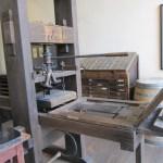 Gutenberg Presse mit Holzstock Luther - Foto von Susanne Haun