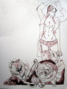 Exlibris - Zeichnung von Susanne Haun - 32 x 24 cm - Tusche auf Bütten