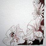 Exlibris - Zeichnung von Susanne Haun - 19 x 17 cm - Tusche auf Bütten