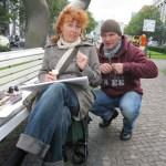 Andreas und ich - Foto von Petra A. Bauer