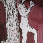 Eva - Zeichnung von Susanne Haun - 24 x 32 cm - Tusche auf Hahnemühle Bütten