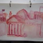 Der Reichstag - Aquarell von Susanne Haun - 15 x 20 cm