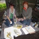 Conny und ich beim Malen - Foto von Maike Josupeit