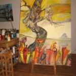 Für die Ausstellung Verwandlungen in der Klostergalerie Zehdenick entstand doch ein großer Baum der Verwandlungen von Susanne Haun