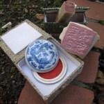 Meine chinesischen Stempel (einer ying und einer yang) mit Susanne Haun