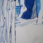 Detail Zeichnung Frau an der Ostsee von Susanne Haun