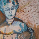Geradeaus - 2006 - Gemälde von Susanne Haun - Acryl und Tusche auf Leinwand - 20 x 15 cm