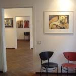 Drei Galerieräume - Drei Künstler - vorne mein Engel ...