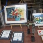 Schaufenster der Galerie Treffpunkt Kunst