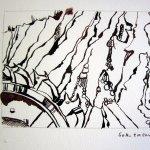 4. Zeichnung Welzow - Zeichnung von Susanne Haun 15 x 20 cm - Tusche auf Bütten