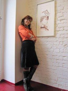 Ich vor meiner Tucan Frau in der Galerie Zeitlos - Foto von Daniel Büchner