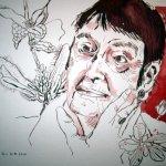 Loki Schmidt - Zeichnung von Susanne Haun - 2. Version - 24 x 32 cm - Tusche auf Bütten