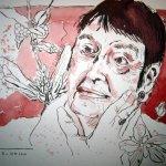 Loki Schmidt - Zeichnung von Susanne Haun - 3. Version - 24 x 32 cm - Tusche auf Bütten
