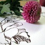 Chrysamtheme - Zeichnung / Foto von Susanne Haun