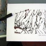 3. Zeichnung von Susanne Haun mit gesammelten Fundstücken aus Welzow