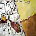 Kreidefelsen - Zeichnung von Susanne Haun - 32 x 22 cm - Tusche auf Bütten