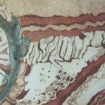 5. Kolorierte Radierung Welzow mit türkiser Aquarellfarbe von Susanne Haun