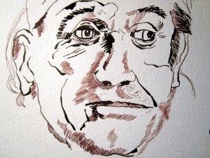 Entstehung Portrait Deleuze von Susanne Haun