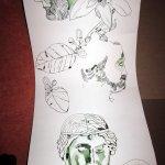 Die Verbindung schaffe ich mit Zitronenblüten - Zeichnung von Susanne Haun 1000 x 40 cm