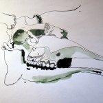 Entstehung Elchskelett von Susanne Haun 1000 x 40 cm