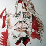 Entstehung Zeichnung Klaus Kinske von Susanne Haun