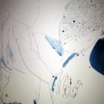 Ich denke, ein dunkler Hintergrund wird dem Bild gut tun - Zeichnung von Susanne Haun