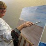 Cordula malt sehr gerne - Foto von Susanne Haun