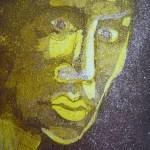 Im Dunkeln gelb 2003 - Radierung von Susanne Haun - 15 x 10 cm - Aquatinta, 2 Platte
