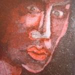 Im Dunkeln rot 2003 - Radierung von Susanne Haun - 15 x 10 cm - Aquatinta, 2 Platte