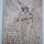 Engel Version 8 - Radierung von Susanne Haun - 20 x 15 cm - Strickätzung