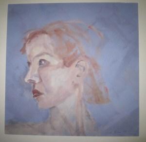 1999 - Selbstportrait Susanne Haun - Acryl auf Papier 50 x 50 cm