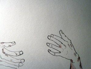 Beide Hände Zeus - Ausschnitt Zeichnung von Susanne Haun