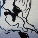Ich mag es die Abstraktion der einzelnen Linien zu betrachten - Ausschnitt Zeichnung von Susanne Haun