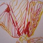 Es macht Spaß, die Tortenstückchen der Zitrone zu zeichnen - Ausschnitt Zeichnung von Susanne Haun