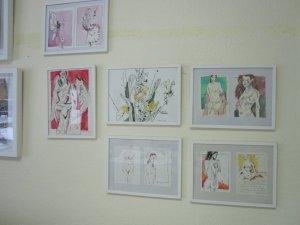 Femmes et Fleurs - was für schöne Worte - Zeichnungen von Susanne Haun