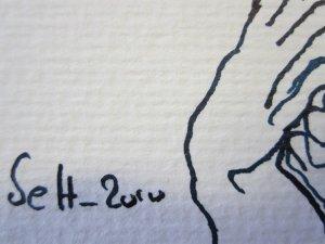 Meine Signatur auf Zeichnung Susanne Haun