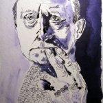 Mein Sinnbild von Max Beckmann, 2010, 32 x 24 cm, Tusche auf Aquarellkarton, Zeichnung von Susanne Haun (c) VG Bild-Kunst, Bonn 2020