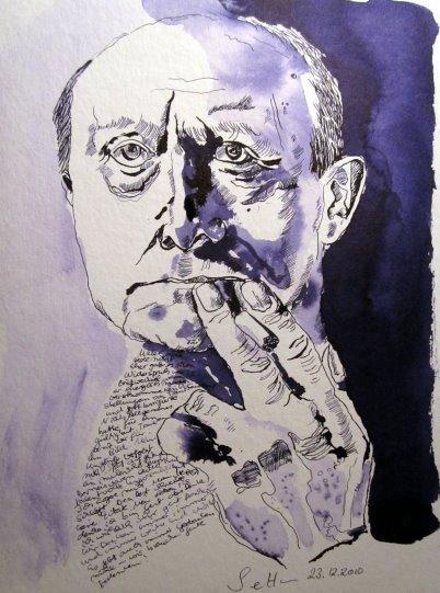 Max Beckmann - Zeichnung von Susanne Haun - 32 x 24 cm - Tusche auf Bütten