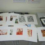 Es macht Freude, die Kartons mit den Radierungen von mir durchzuschauen - Radierungen von Susanne Haun