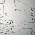 Ausschnitt Zeichnung von Susanne Haun - Zeus und Athene