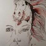 Entstehung Athena - Zeichnung von Susanne Haun