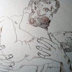 Zeus und Athena sind fertig - hier fehlt mir Spannung - Zeichnung von Susanne Haun