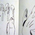 Skizzen 1 und 2 Handschuhe von Susanne Haun