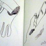 Skizzen 3 und 4 Handschuhe von Susanne Haun