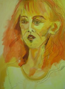 2004 - Susanne Haun - 100 x 80 cm - Acryl und Ölkreide auf Leinwand